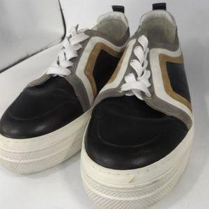 Pierre Hardy Black Striped Sneakers 42